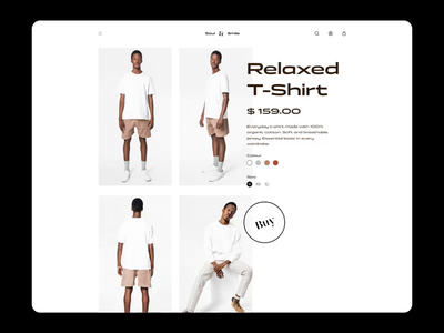 Soul & Smile - Product Page Motion premium desktop clothes fashion brutalism ecommerce business ecommerce design ecommerce animation hoover product page call to action