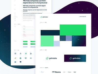 Getindata - Website Styleguide green interface brand astronaut cosmos design system sketch typography colour palette ui kit styleguides styleguide