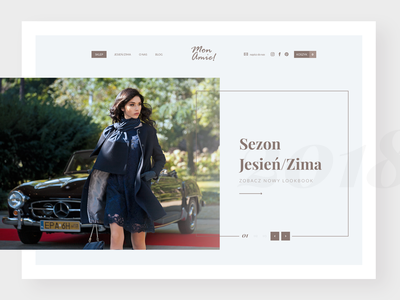 MonAmie! - e-commerce platform | Home fashion design fashion brand website home hero shop e-comerce woman fashion