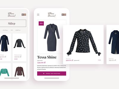 MonAmie! - e-commerce platform | Mobile detail mobile e-commerce app ecommerce app e-commerce process ecommerce shop ecommerce order fashion fashion brand woman