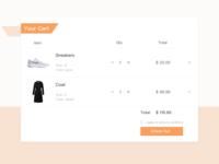 Shopping Cart | Daily UI 058