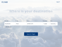 Flight Search | Daily UI 068