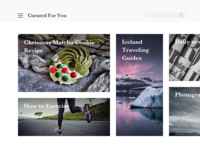 Curated For You | Daily UI 091