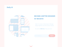 Redesign Daily UI Landing Page | Daily UI 100