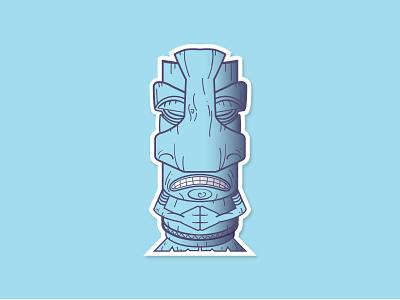 Sinus Pressure Tiki tiki flat logo icon fun art vector illustration design