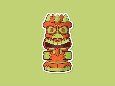 Drunk Tiki tiki branding icon fun art vector logo illustration design
