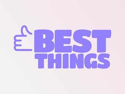 Best Things logo branding