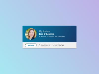 Contact Card contact dashboard ui