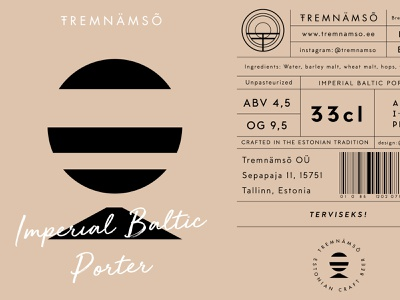 Beer Label & Packaging simple logo illustration vector logotype brand identity visual design beer branding beer logo color palette label design label packaging beer bottle beer label estonian craft brewery craftbeer
