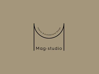 Mag Studio Logo design simplicity logomark monogram logo monogram letter m letter m logo line drawing icon design visual identity visual design brand identity branding architectural mag studio arcade architect architecture