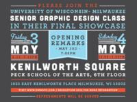 Type work for Senior Capstone poster