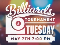 May Billiards Tournament