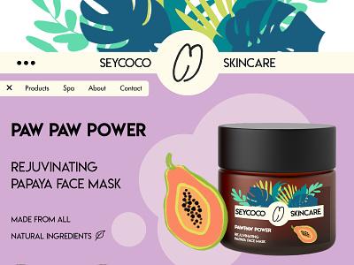 Seycoco Digital Design fruit design skincare cosmetics branding colourful illustration digital