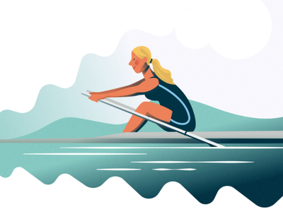 Cambridge rowing water cambridge water sports rowing affinity designer vector illustration