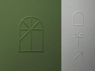 Juliana Macena Architecture Concept concept symbol identity construction perspective arrow door nature plant branding window minimalist logo