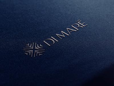 Di Maré | Brand Identity stationery symmetry animal architecture hotel ocean tropical luxury summer sun sea shoal fish type symbol branding minimalist design logo