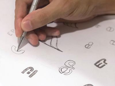 Sketching Elida Project type symbol sketch sketching ep monogram branding minimalist logo design