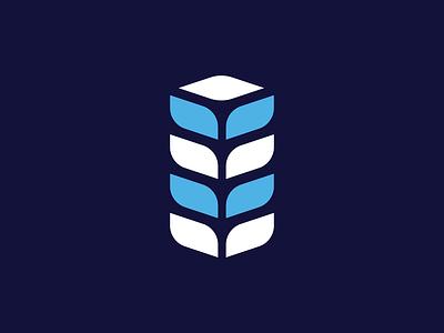 Leaf + Building Logo Concept. plant illustration engineering leaf building symbol branding minimalist logo design