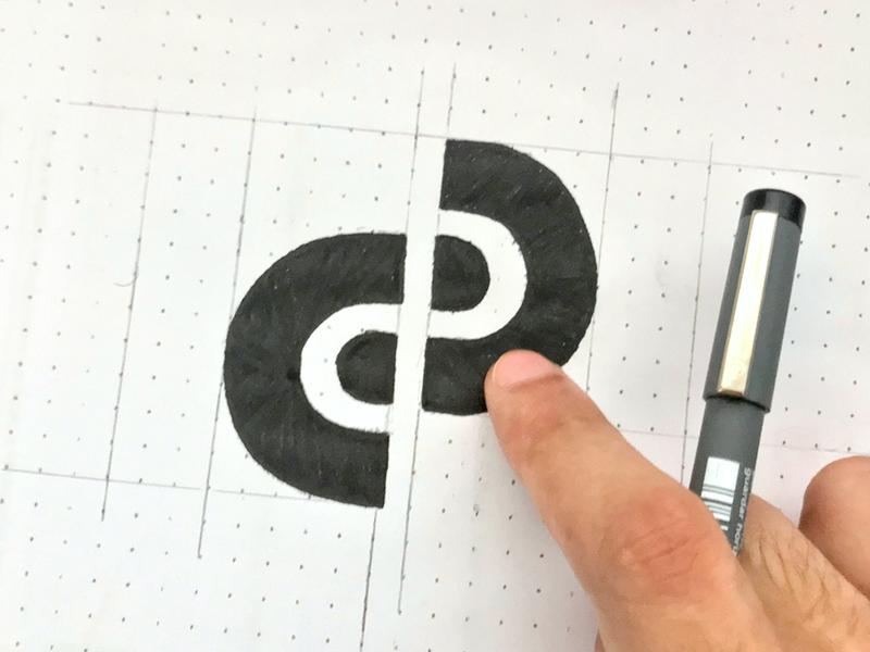 EP monogram sketch circle personal trainer monogram p e design process process sketching sketch illustration negative space symbol branding minimalist logo design