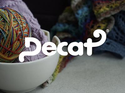 Decat® animal knitting gif seam cotton wool cat minimalism wordmark typogaphy type branding minimalist logo design
