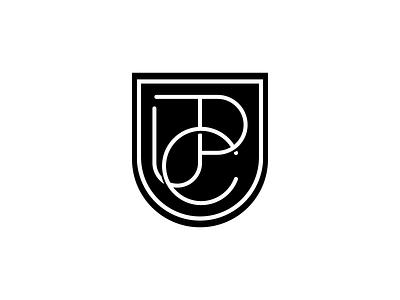 JPC lettermark vector heart shield letters c p j emblem monogram minimalism wordmark typogaphy type symbol minimalist logo design