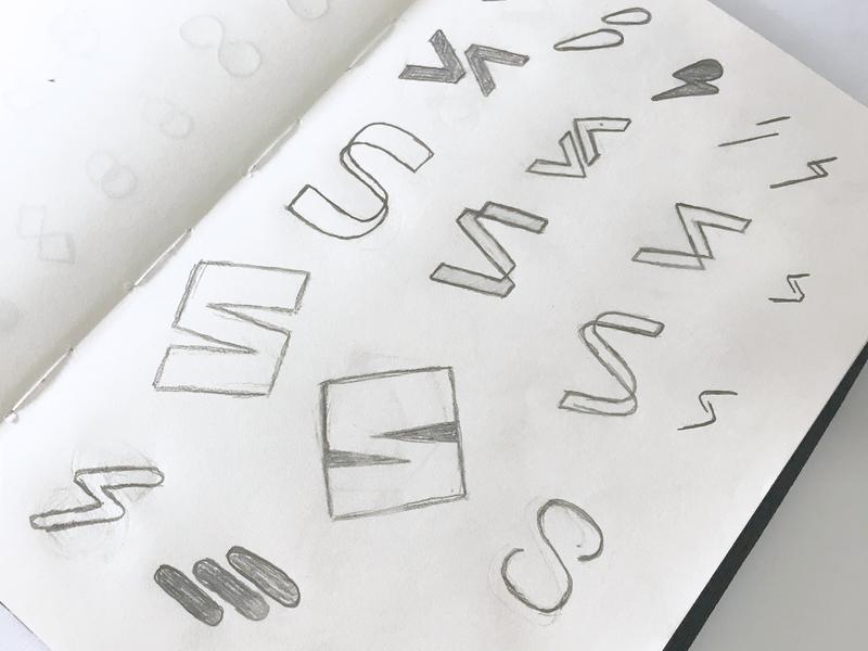S Sketch workout fitness app fitness sketching app branding arrow session s lettermark type symbol minimalist logo design sketch