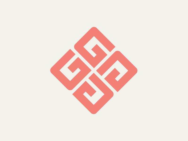 Gaud logo square d u a g monogram negative space lettermark type typography branding symbol minimalist design logo