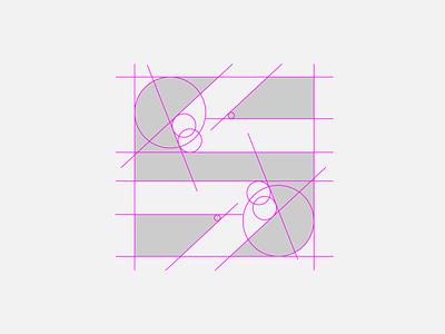 Session Grid workout fitness session s app construction logo grid negative space ui minimalist design logo