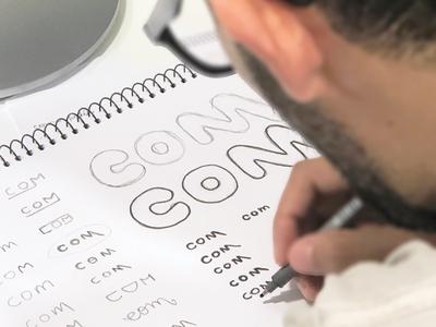 Com tool skills photography sketch draft com type typography wordmark branding minimalist design logo