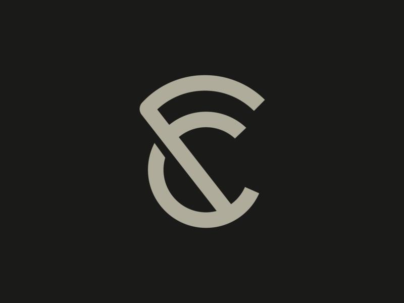 Extreme Cross Fit Logo exercise ecf f c e kettlebell crossfit gym workout fitness monogram minimalism symbol branding minimalist design logo