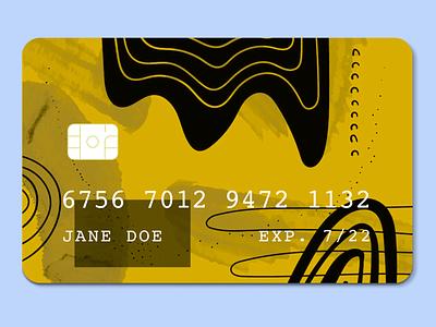 Credit Card Concept 1 modern geometric financial fintech bank card credit bankcard creditcard dailyui