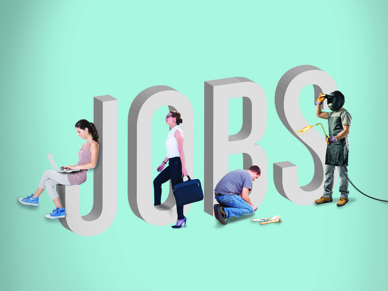 The Jobs Issue editorial design typography 3d type illustrator photoshop