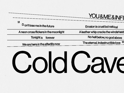 Cold Cave poster detail.