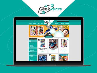 Geekverse E-Commerce Web UI Design geek visual identity e-comerce ecommerce webdesign graphic design branding ux design ui design