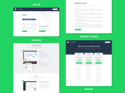 Pages for Nonprofit Management App Market Website ui design ux design login features demo pricing nonprofit volunteering lead generation sales web design website market page landing page
