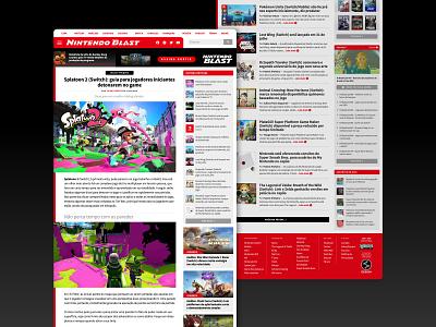 Nintendo Blast - Website Content Pages UI/UX gaming web ui visual identity splatoon nintendo games web design graphic design ux design ui design