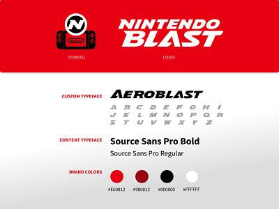 Nintendo Blast - Branding, Visual Identity colors typography typeface games graphic design logo branding visual identity