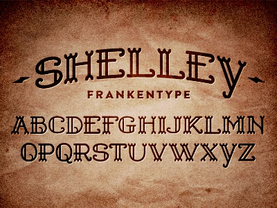 Shelley Font shelley font frankenstein type typography mary literature