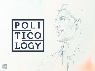 Politicology Brand Identity and Art Direction illustration logomark art direction typography logo branding