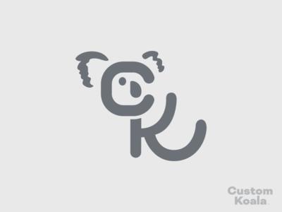 Custom Koala Logomark branding logo