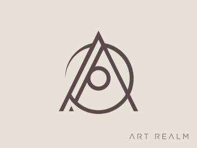 Art Realm Tattoo and Fine Art Gallery Logomark typography vector branding logo