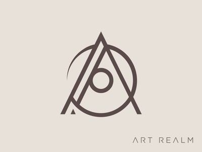 Art Realm Tattoo and Fine Art Gallery Logomark typography vector branding logo