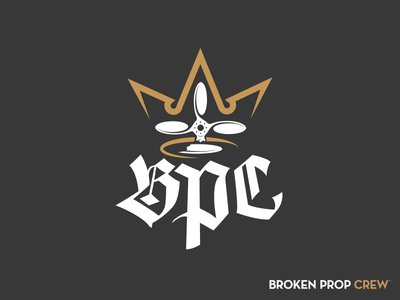 Broken Prop Crew Logo typography logo branding