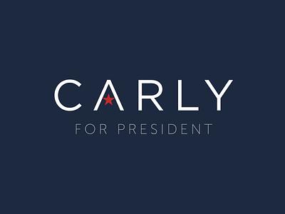 Carly Fiorina For President Brand Identity typography logo branding