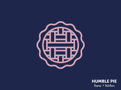 Humble Pie Home & Kitchen minimal vector flat design typography logo branding