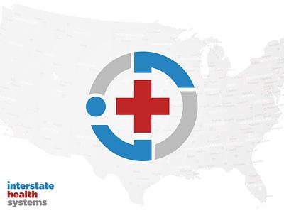 Interstate Health Systems Logo and Brand Identity minimal design branding vector flat logomark typogaphy logo