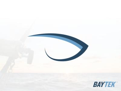 Baytek Logo and Brand Identity typography logomark minimal flat design vector branding logo