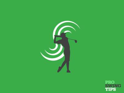 Pro Swing Tips Logomark logomark minimal flat design vector typography branding logo