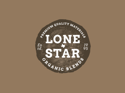 Lonestar Organic Blends Logo logomark minimal flat design vector typography logo branding
