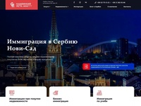 Site design of immigration company in Serbia